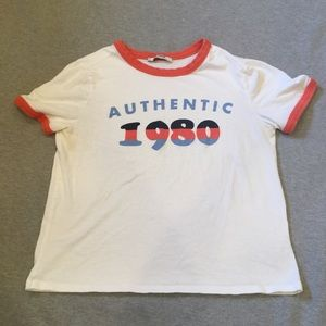 "Zara ""Authentic 1980"" cropped tee"
